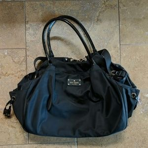 Kate Spade Stevie Diaper Bag. Black.
